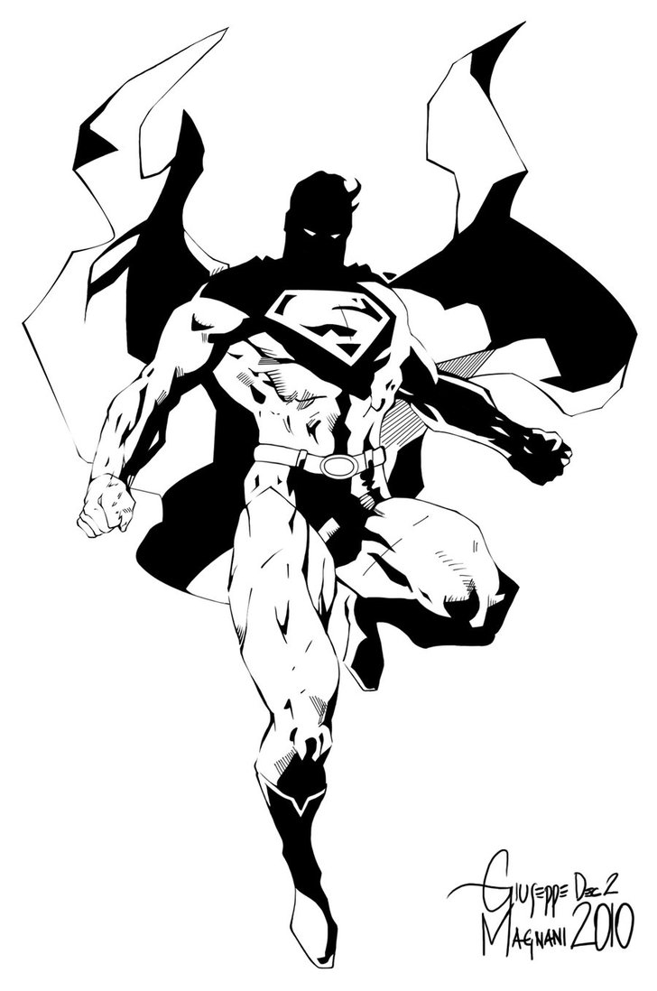 728x1098 Jim Lee's Superman. Inks By Bongiuovi