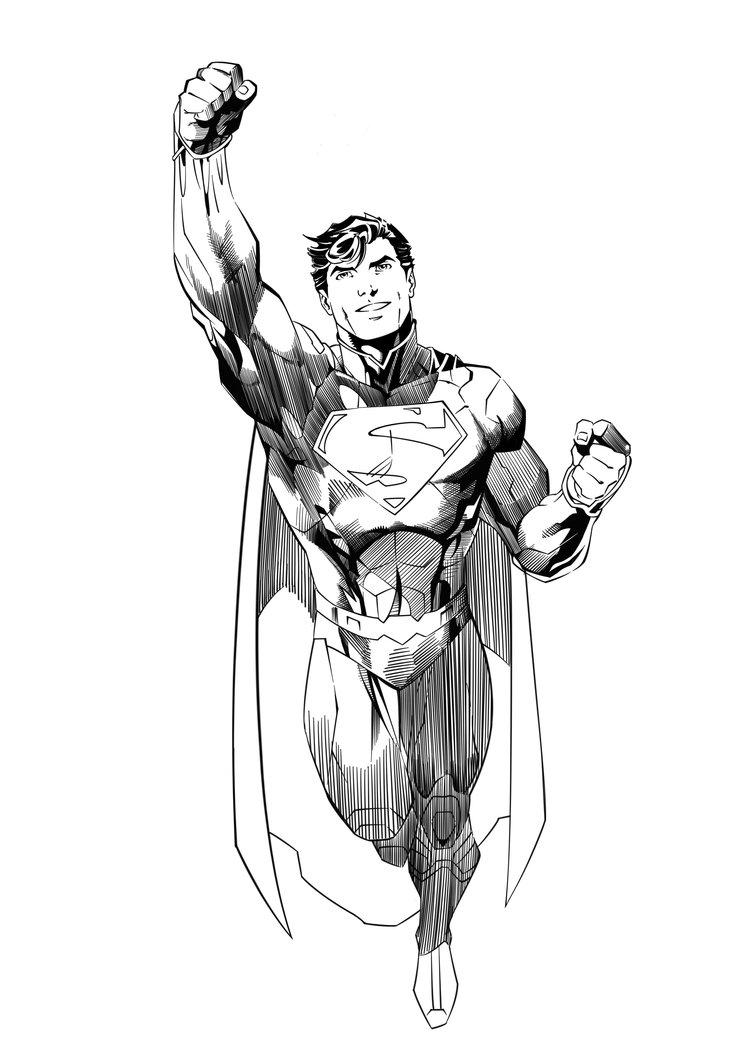 752x1063 Jim Lee Superman Ink Practice By Jasonbrock