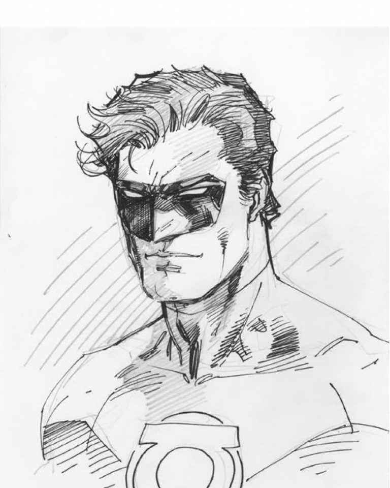 768x960 Jim Lee Green Lantern Hal Jordan Jim Lee And Comic
