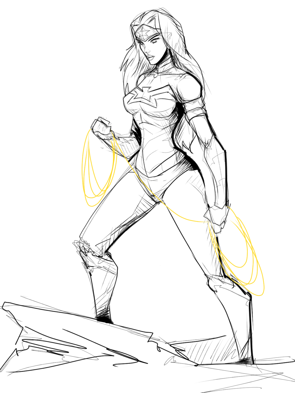 1024x1365 Jim Lee Inspired Wonderwoman By Sketchydeez Sketchydeez