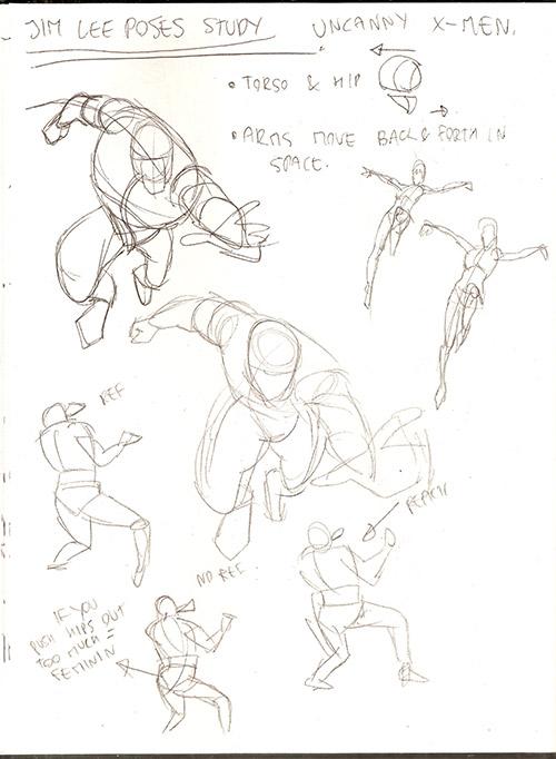 500x682 Let's Animate Nova (Fantastic Four) Sketch + Jim Lee Studies