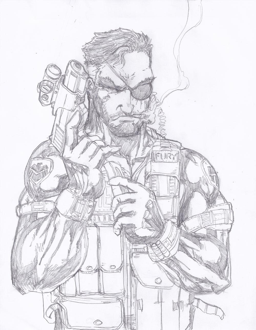 1000x1289 Nick Fury Artwork