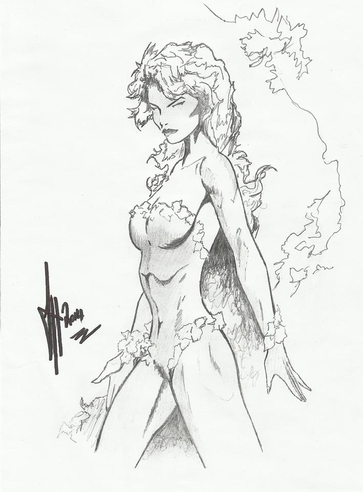 709x960 Poison Ivy Pencil Attempted Jim Lee Sketch By Leeart Uk