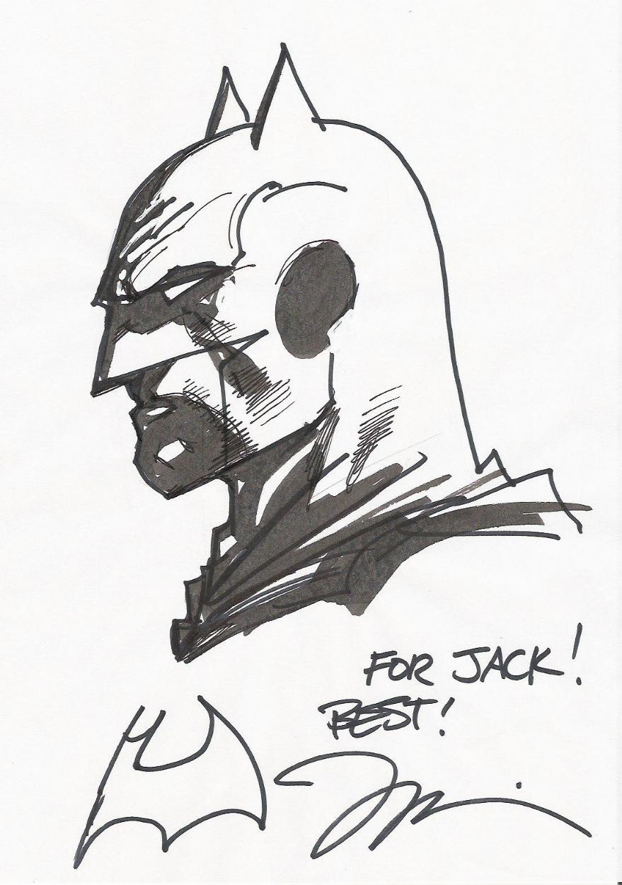879x1250 Batman Sketch By Jim Lee, In Giacomo Iori's My Comic Art