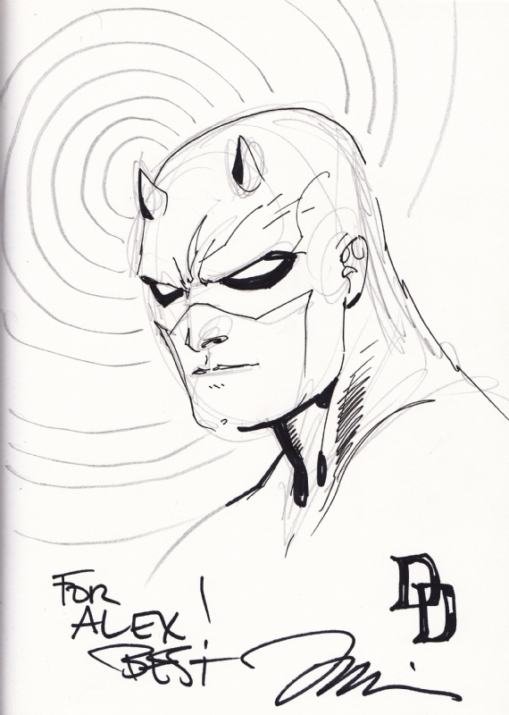 570x800 Daredevil By Jim Lee, In Alex Chung's Sketches Amp Commissions Comic