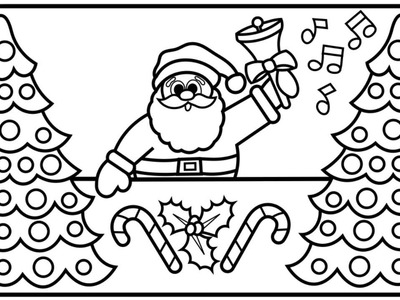 400x300 Draw, How To Draw Santa And Reindeer For Kids, Santa Coloring