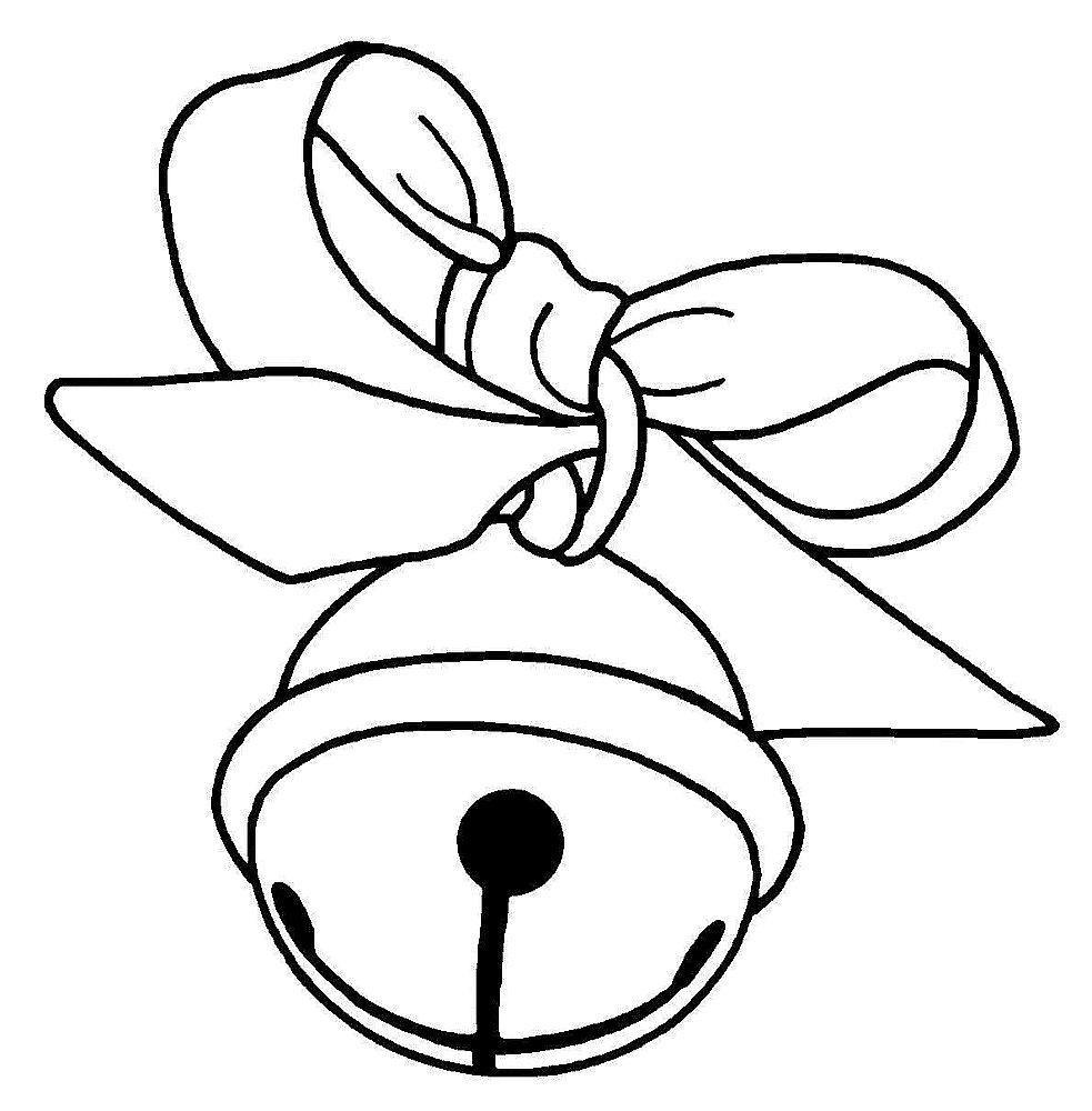 983x1000 Jingle Bell Clipart Black And White