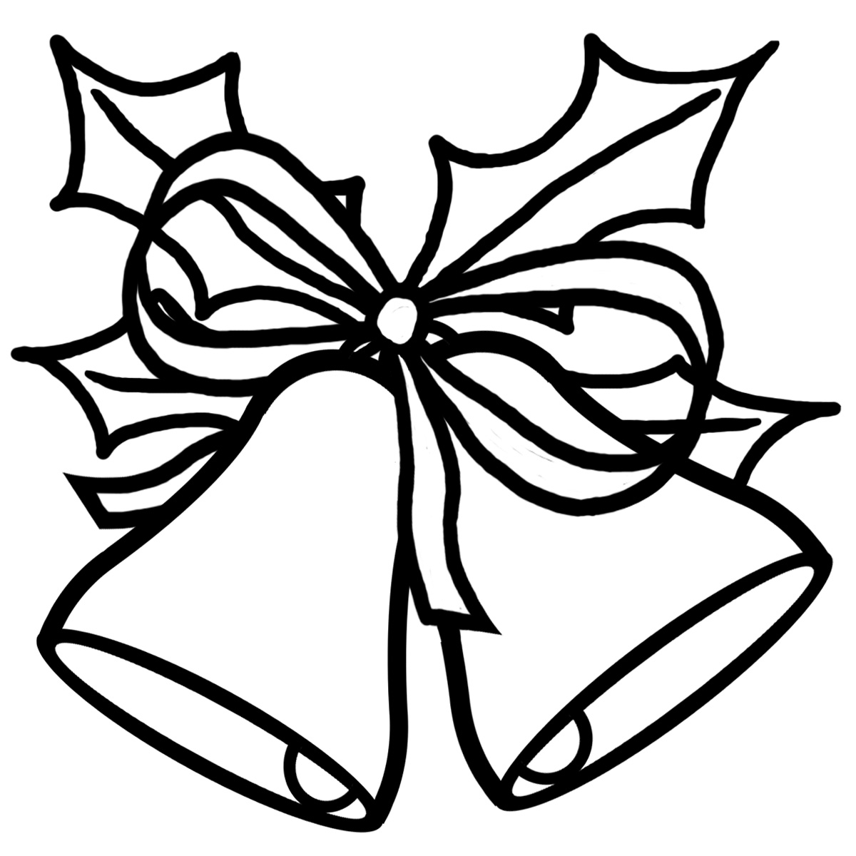 1200x1200 Bell Clipart Christmas Drawing