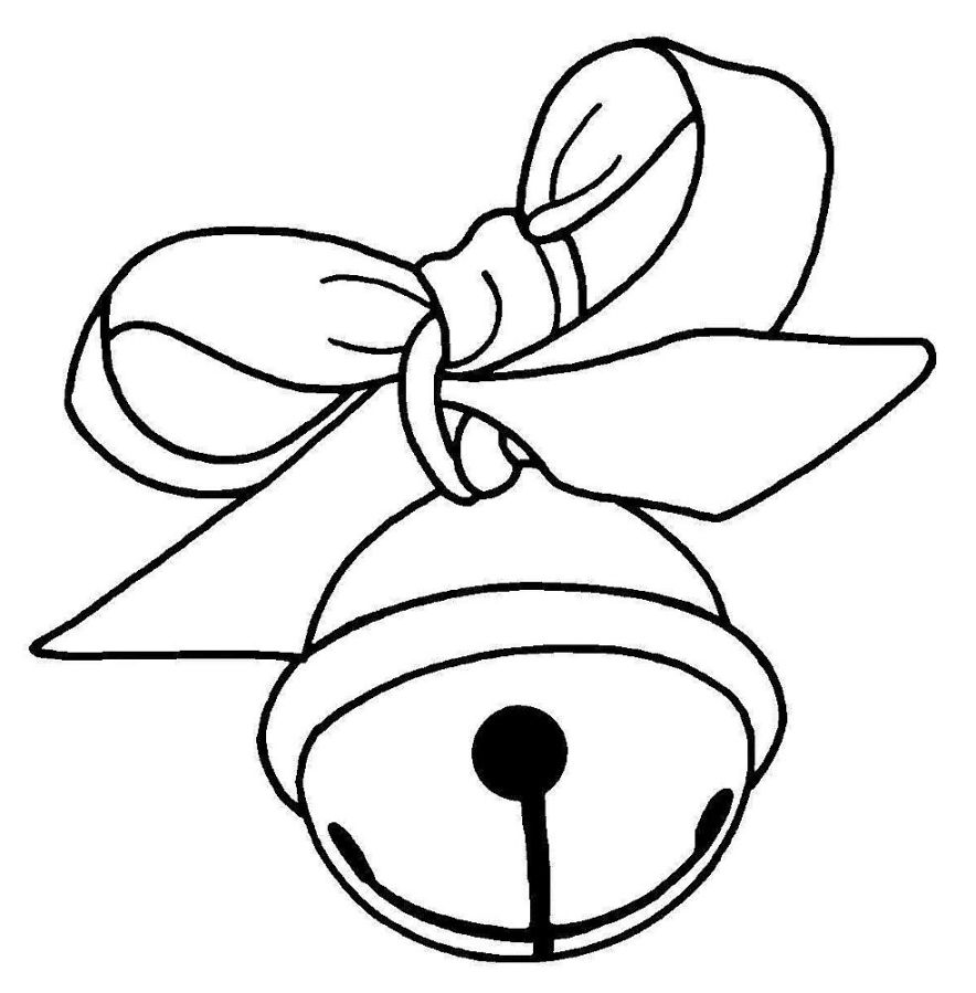 884x899 Jingle Bells Instrument Coloring Pages Christmas Bell Coloring