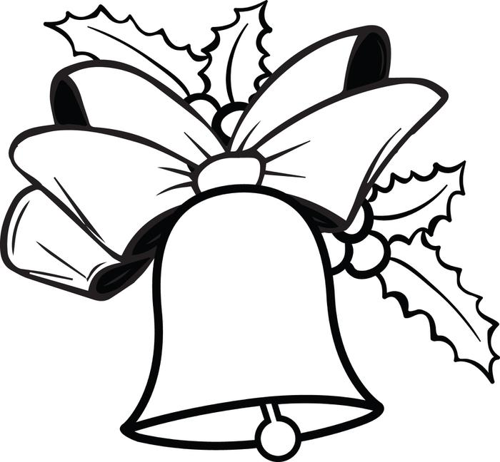 700x648 Bell Clipart Christmas Coloring