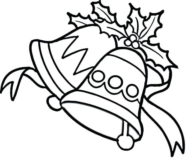600x510 Elegant Jingle Bells Coloring Pages Or Bells Coloring Pages Bells