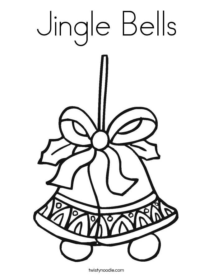 685x886 Jingle Bell Template Printable Bells Coloring Pages For December