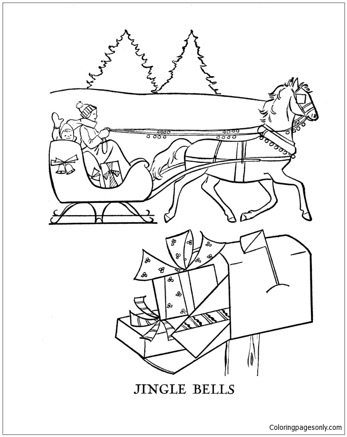683x859 Jingle Bells Coloring Page