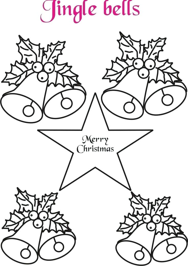 736x1036 Pictures Of Christmas Bells To Color Clocks Bells Coloring Page