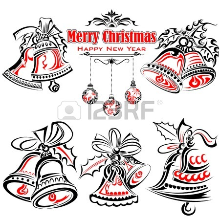 450x450 Tattoo Style Of Christmas Jingle Bells Royalty Free Cliparts