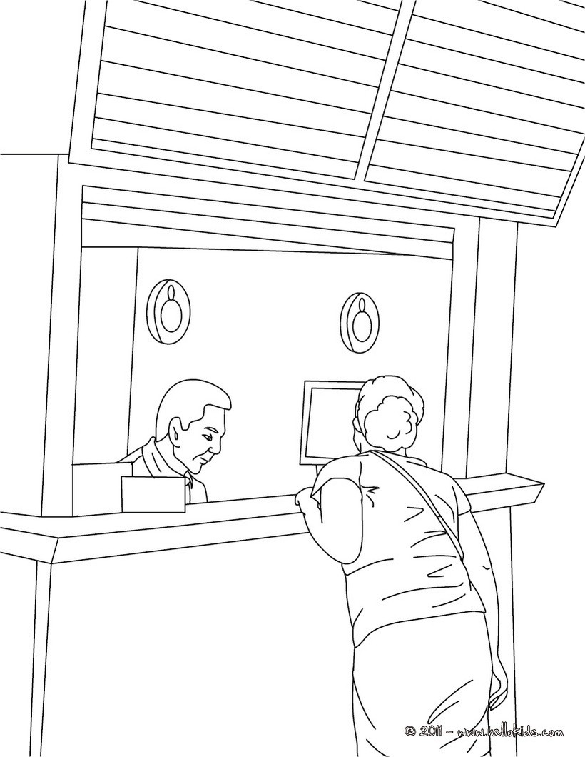 820x1060 Train Station Agent Coloring Pages