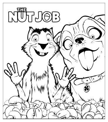 367x416 The Nut Job Coloring And Drawing Sheet Animation Series Coloring