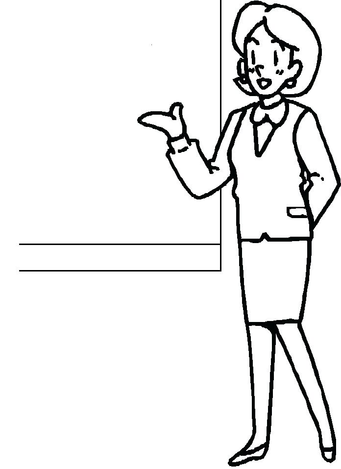 696x957 Excellent Teacher Coloring Pages Free Download Page Jobs 8