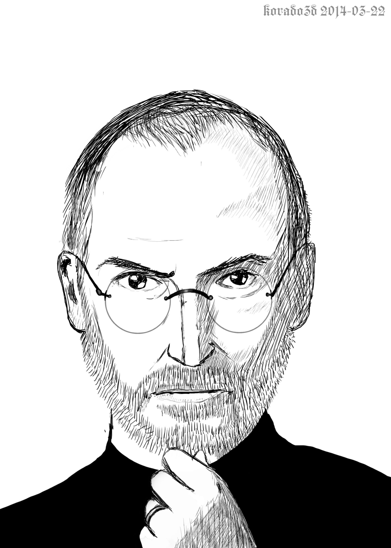 2141x3000 Steve Jobs Drawing Timelapse [Drawn In Opencanvas 5]