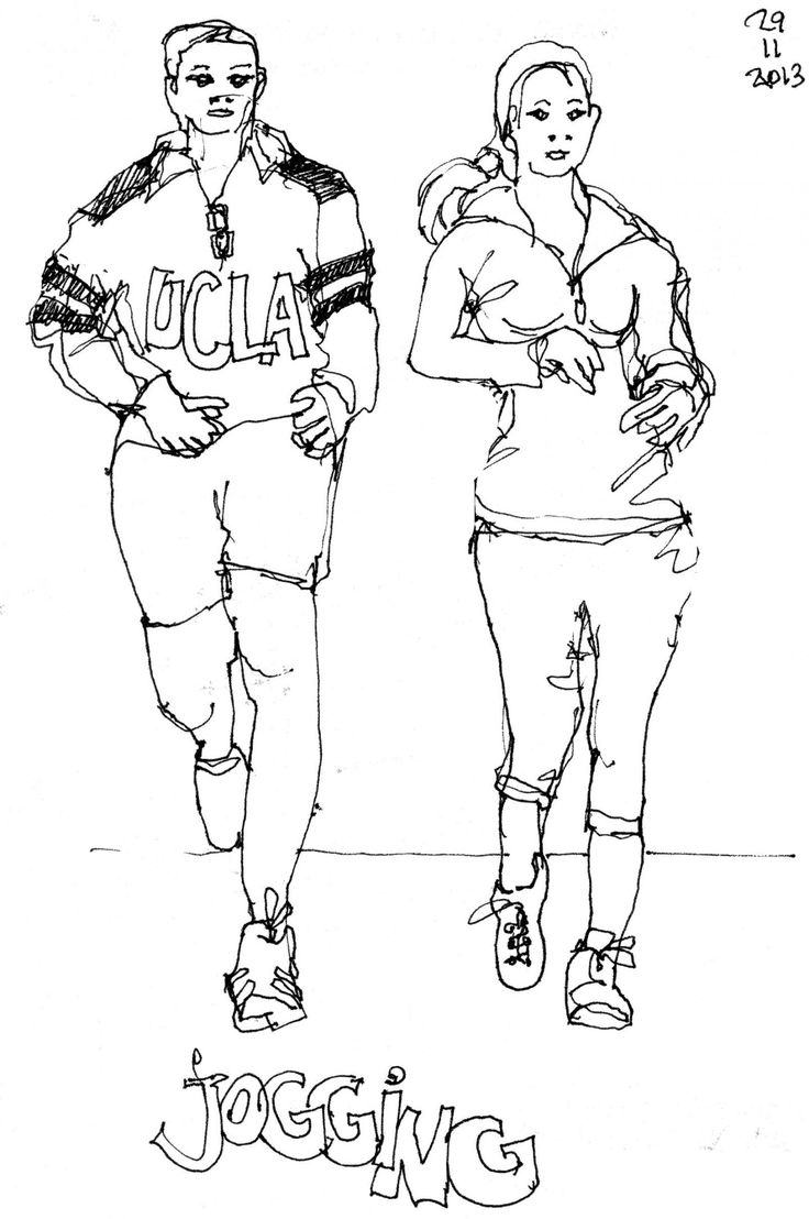 Jogging Drawing