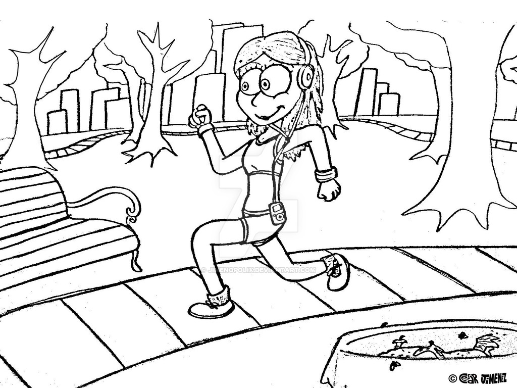 1024x768 Riley Goes Out For A Jog By Jimenopolix