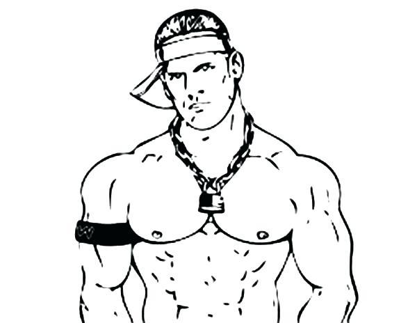 600x464 Wwe Coloring Pages John Cena Wrestling Decisive Contender John
