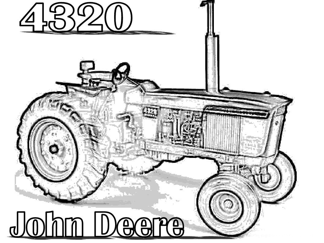 John Deere Tractor Drawing at GetDrawings.com | Free for personal ...