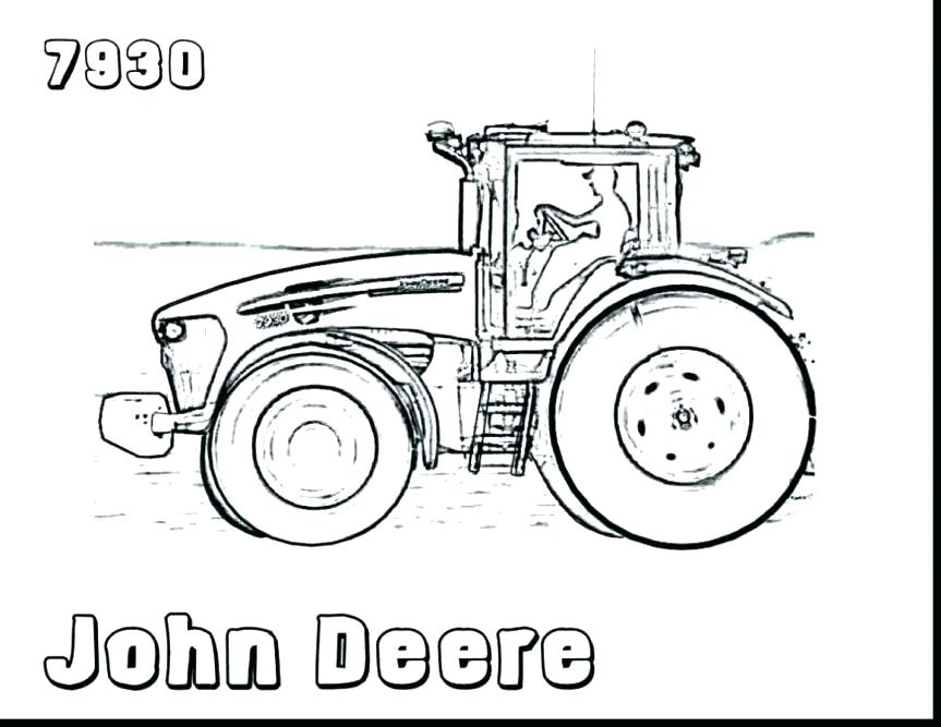 863x667 Awesome John Deere Coloring Pages New Book Tractor Plows Page