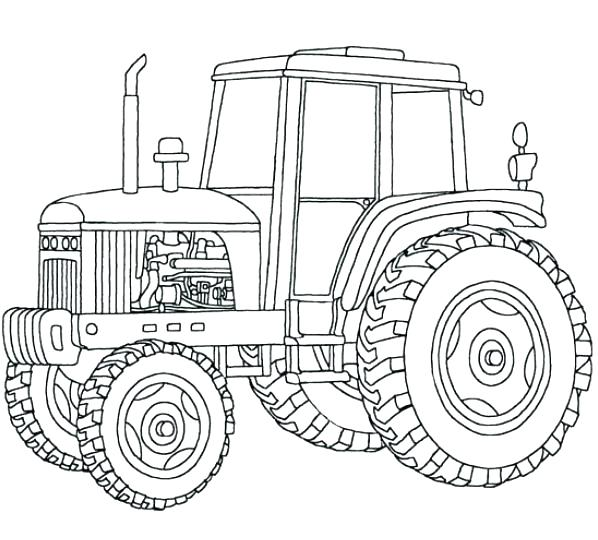 598x540 Free Tractor Coloring Pages John Coloring Book Printable Tractor