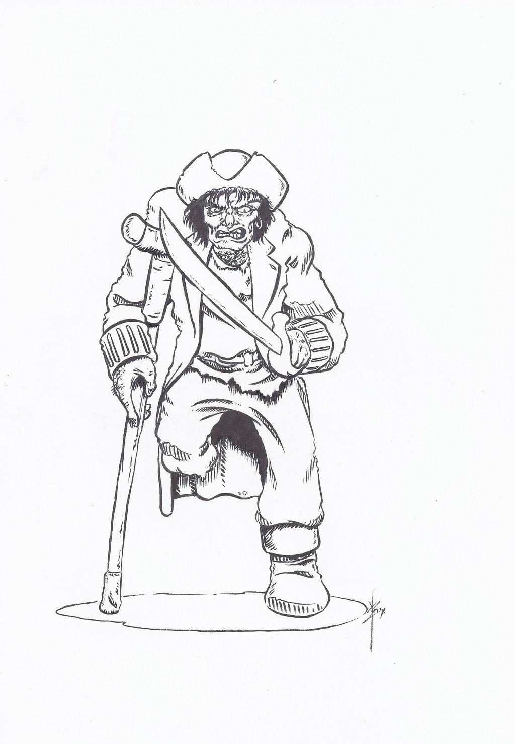 1024x1480 Long John Silver Sketch By Ben1804