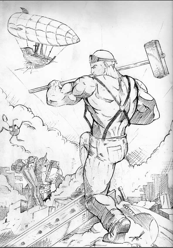 590x846 Evolution Of A Sketch, John Henry Parts 3 And 4 Chris Dixon Comics