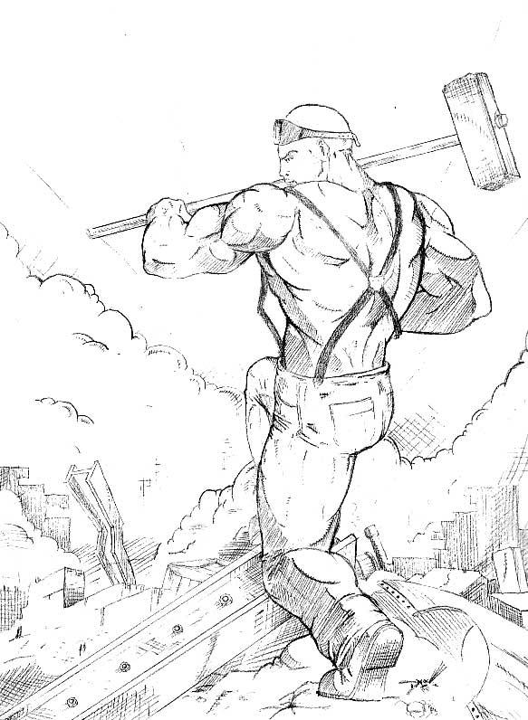 583x796 Evolution Of A Sketch John Henry Part Ii Chris Dixon Comics