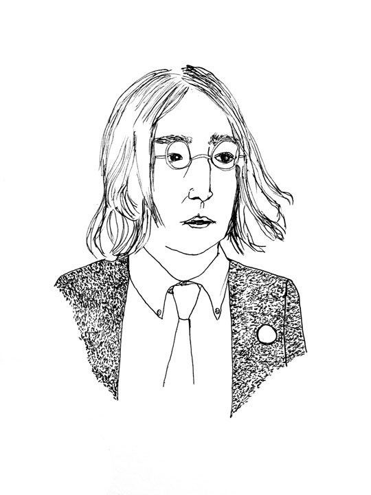 540x720 John Lennon Alison S. M. Kobayashi