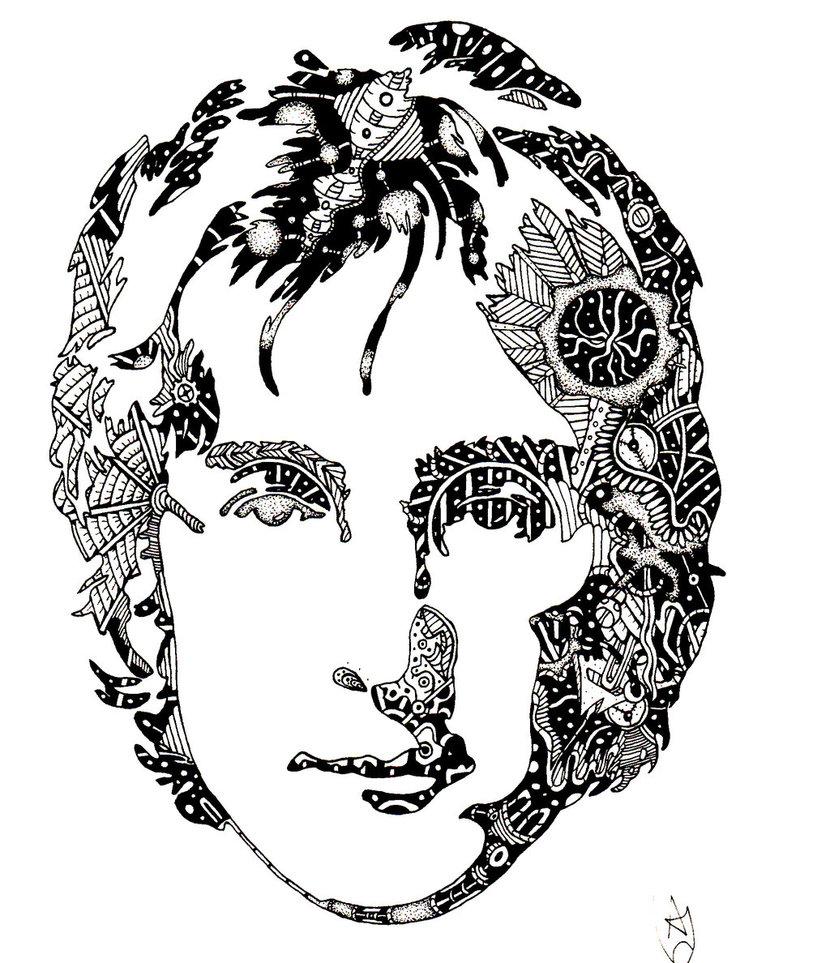 830x963 John Lennon 75 By Aidanhood