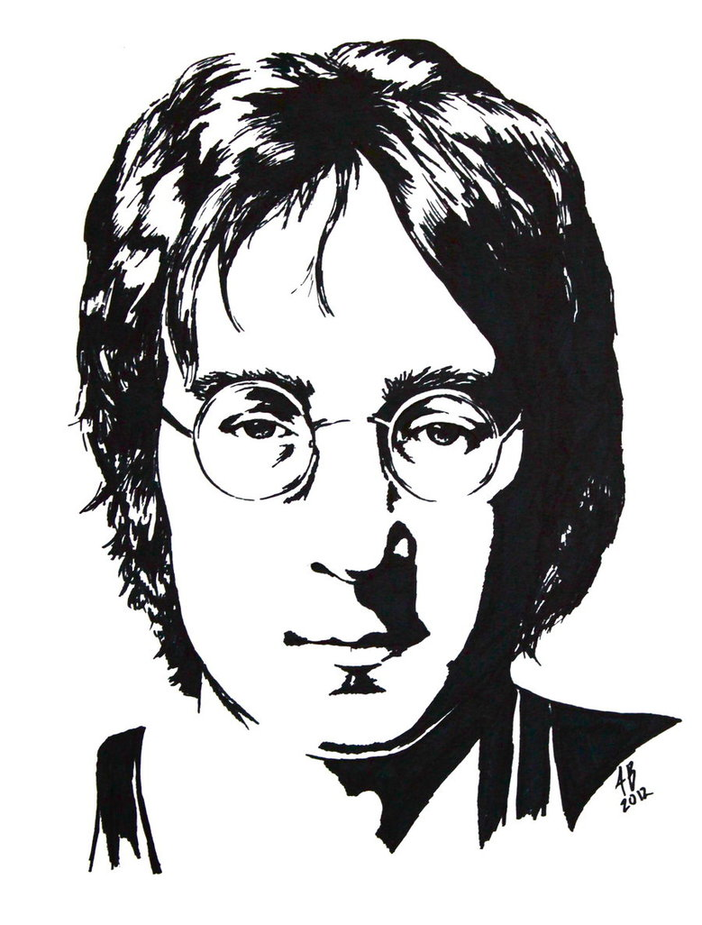 779x1026 John Lennon Black And White Study By Audgeon58
