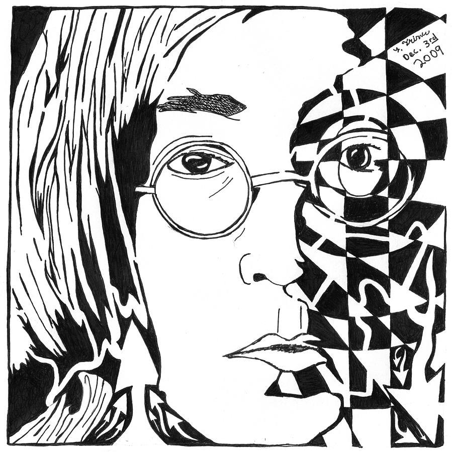 899x900 John Lennon Maze Painting By Yonatan Frimer Maze Artist