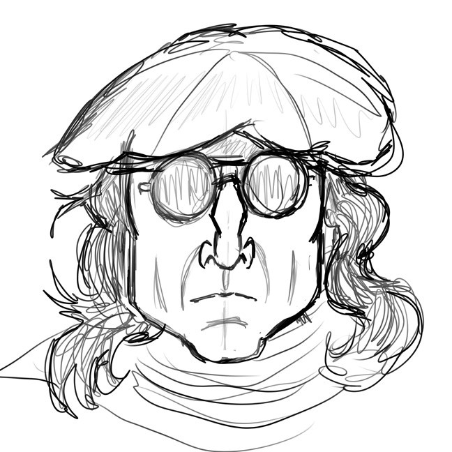 648x648 John Lennon Caricature Brent