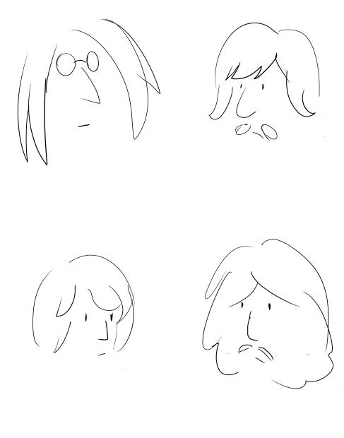 487x620 John Lennon Style Beatles By Silentcartoonist