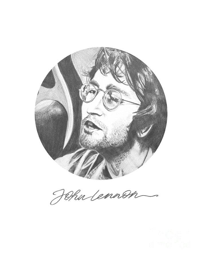705x900 Lennon Drawing By Deer Devil Designs