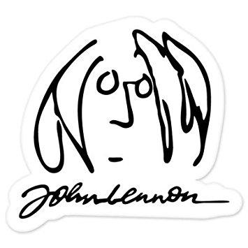 355x355 The Beatles John Lennon Vynil Car Sticker 5 X 5