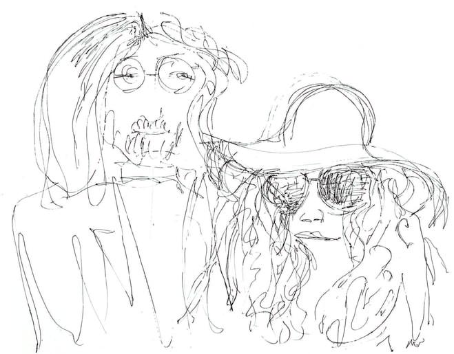 659x515 See John Lennon's Minimalist Sketches