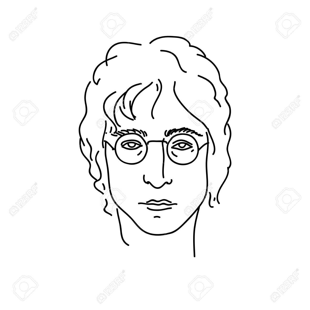 1300x1300 September 19, 2017 Creative Portrait Of John Lennon, Musician