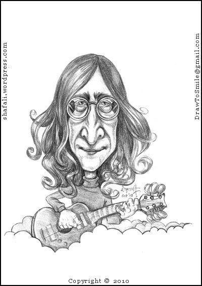 400x565 Caricaturecartoon John Lennon Of The Beatles! Caricatures