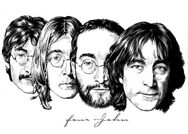 600x430 Four John Lennon T Shirt