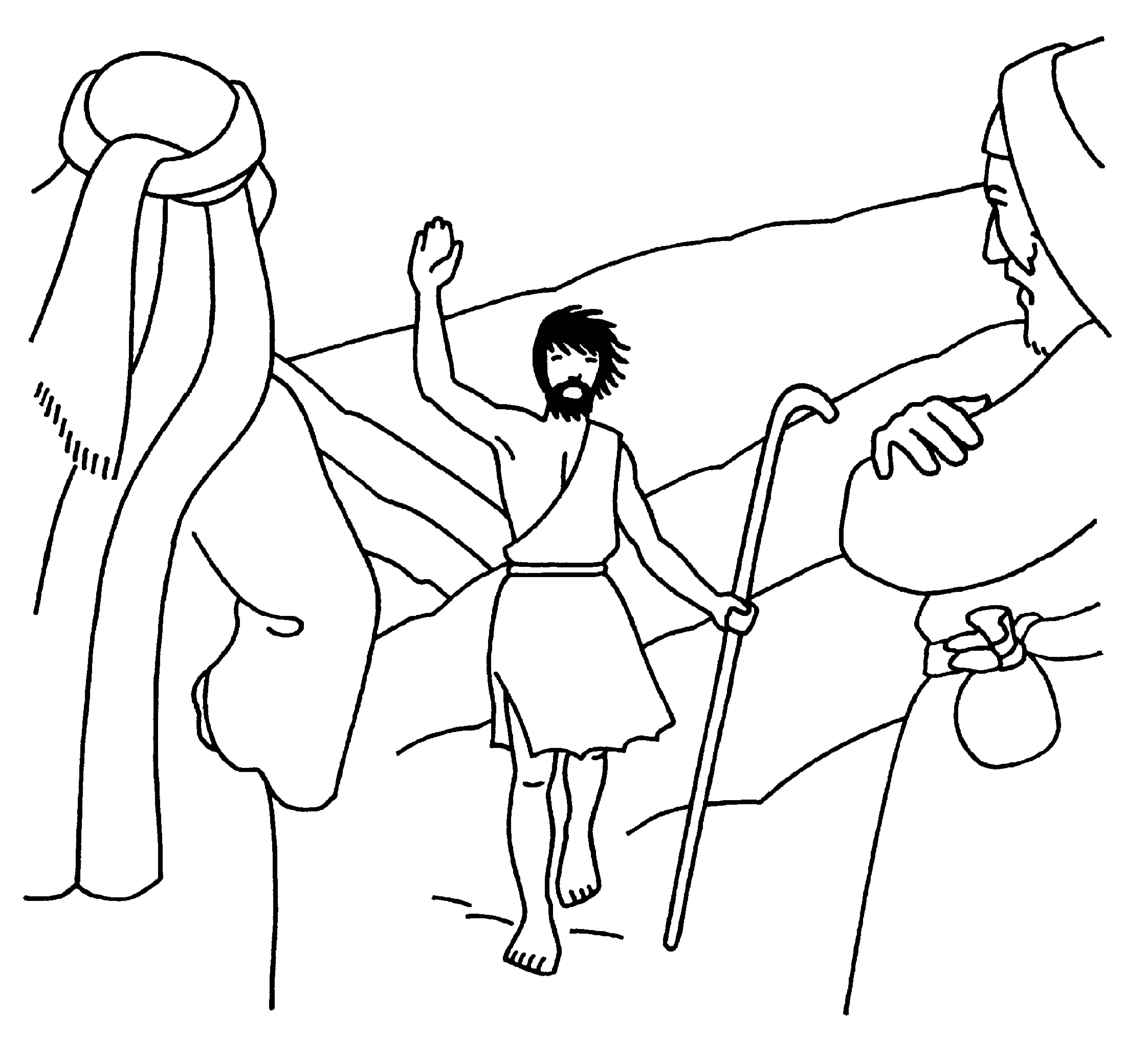 4488x4058 John The Baptist Coloring Page Paginonebiz