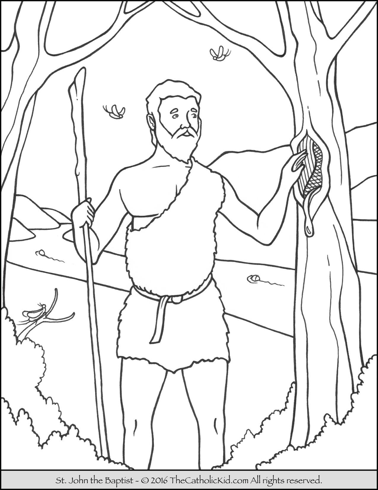 1275x1650 Saint John The Baptist Coloring Pages