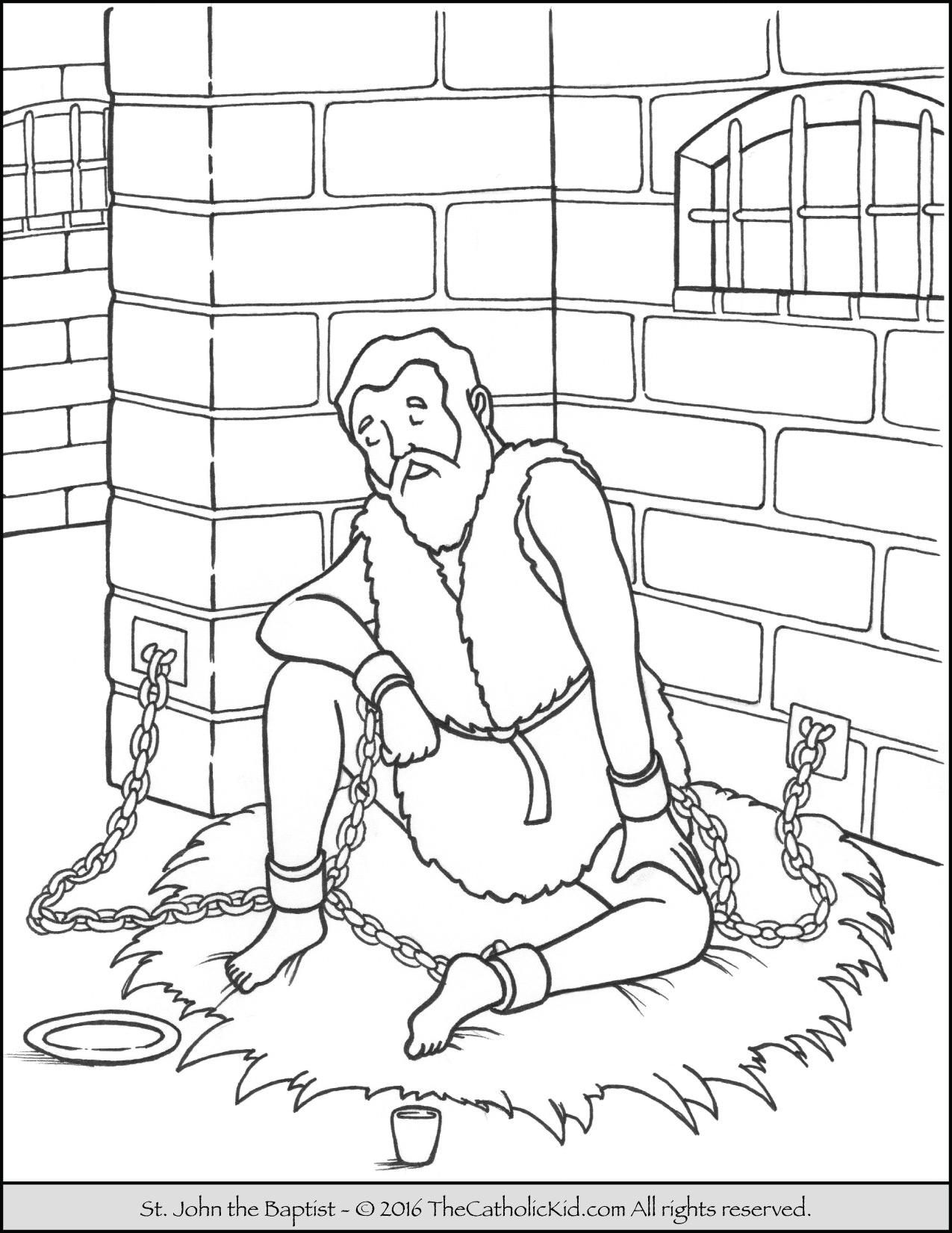 1275x1650 Coloring Sheet John The Baptist Coloring Sheet