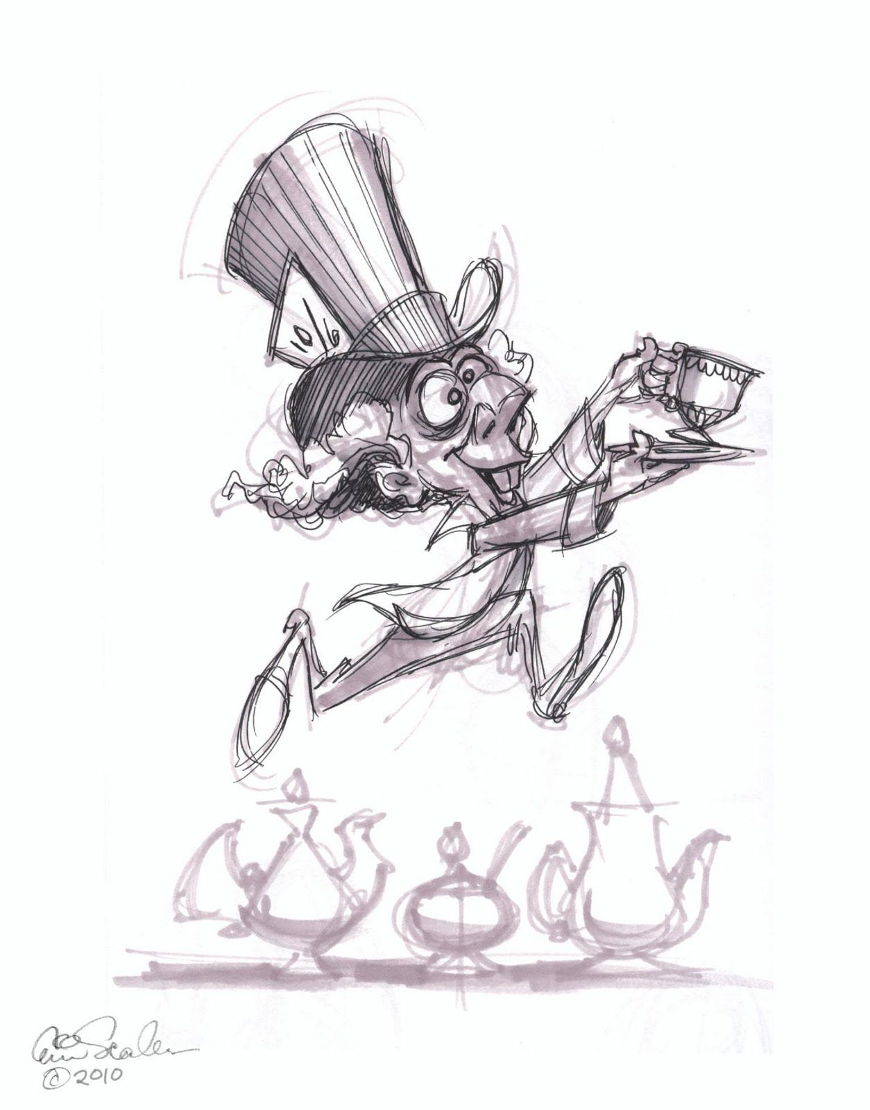 1254x1600 This Is My Own Mad Hatter. Not Based On The Disney Animated