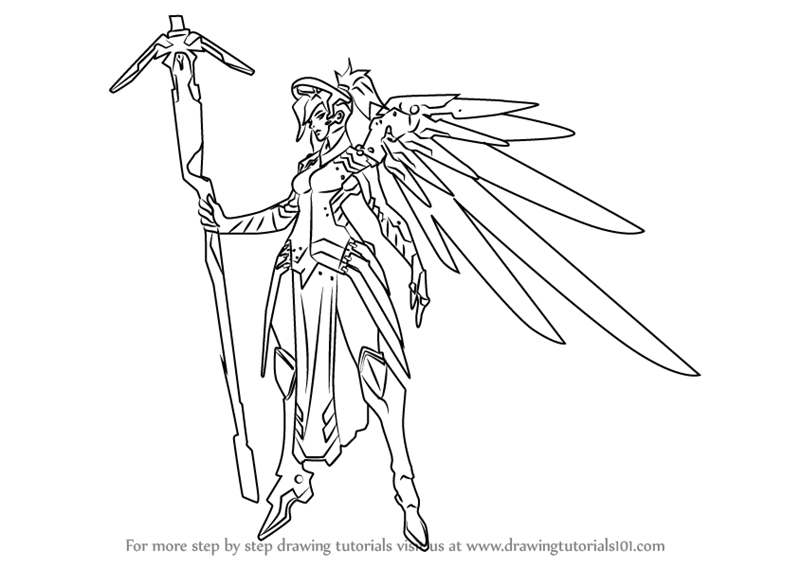 800x566 Learn How To Draw Mercy From Overwatch (Overwatch) Step By Step
