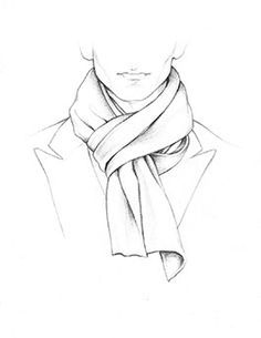 236x305 How To Tie A Scarf Drawing